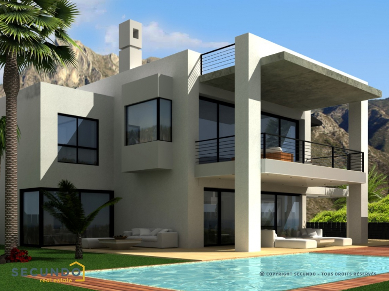 villa costa del sol villas modernes tr s luxueuses situ es au coeur du 39 golden mile 39 entre. Black Bedroom Furniture Sets. Home Design Ideas