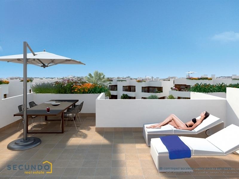 Appartement costa blanca a la zenia superbes for Piscine avec solarium